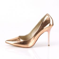 Zapatos de salón efecto metalizado Classique-20 tacón aguja. Talla 35 a 48