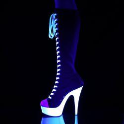 Botas de lona estilo deportivas DELIGHT-2000SK-02 plataforma neón UV
