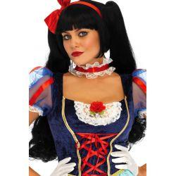 Disfraz carnaval de Blancanieves Lolita de 4 piezas Leg Avenue Luxury