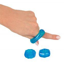 """¡Perfecto para principiantes! 3 anillos de pene elásticos """"You2Toys"""""""