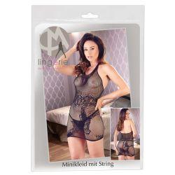 Mini vestido elástico sin costuras de redecilla con cuello halter. Talla única