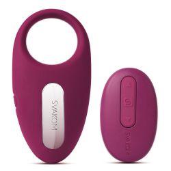 """Anillo vibrador silicona""""Svakom Winni""""con mando distancia y recargable USB"""