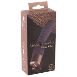 """Vibrador recargable con eje texturizado y 10 vibraciones""""Elegant Flexy Vibe"""""""