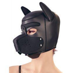 """Máscara bondage de neopreno con cabeza en forma de perro """"Bad Kitty"""""""