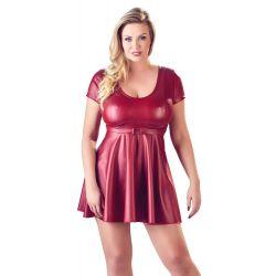 ¡Para chicas con curvas! Vestido con escote redondo y falda acampanada