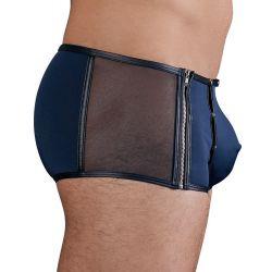 Boxer elástico con bolsa desmontable y laterales de fina gasa transparente