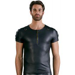 ¡Talla S a 2XL! Camiseta mate con cremallera corta y mangas acordonadas