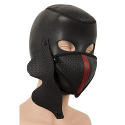 Máscara desmontable fetish, hecha de neopreno con aberturas. Talla única