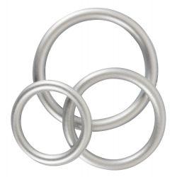 Set 3 anillos para pene de silicona flexible ¡Para erecciones duraderas!