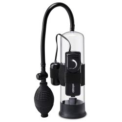 """""""Beginner's Vibrating Pump""""Bomba de succión para pene con bala vibratoria"""