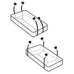 kit de sujeción para la cama con muñequeras,tobilleras y venda para los ojos