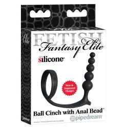 """Consolador de 5 bolas anales con anillo de testículos""""Fetish fantasy elite"""""""