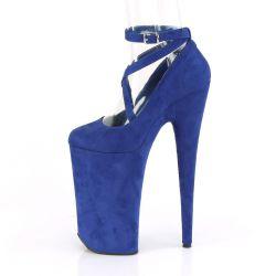 """Zapatos rojos de plataforma extra alta en tejido nobuk""""BEYOND-087FS"""""""
