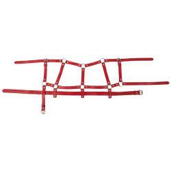 Set bondage de 4 piezas ajustables hecho de cuero con tachuelas decorativas