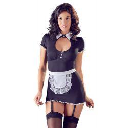 Vestido de sirvienta sexy con liguero y delicado encaje ¡Talla S a XL!