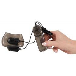 """""""Ball Sleeve""""Funda para testículos con balas vibratorias y control remoto"""