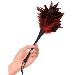 ¡Para cosquillas eróticas! Plumero con plumas suaves y mango flexible
