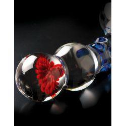 """ICICLES No. 18"" Consolador de cristal 17,5 cm con puntos estimulantes"
