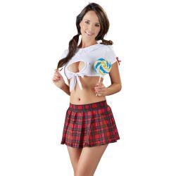 ¡Talla S hasta XL!.Provocativo uniforme completo de colegiala sexy