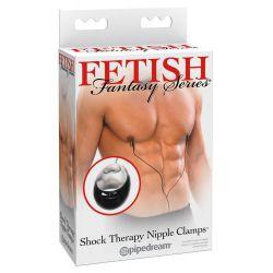 """Pinzas de pezones con control remoto por cable """"Shock Therapy Nipple"""""""