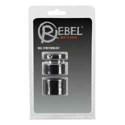 """Set de 3 Anillos en diferentes tamaños para testículos con """"Rebel"""""""