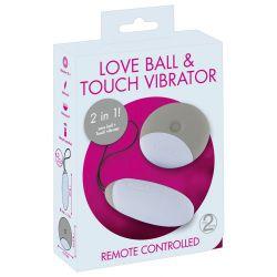 """Vibro bala recargable 8 cm con control remoto """"Love Ball & Touch Vibrator"""""""