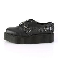 Zapatos unisex CREEPERS de plataforma con hebillas y argolla metálica