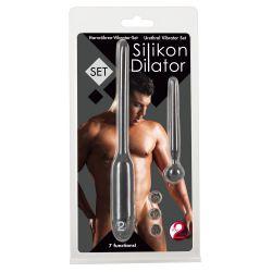 """Set Silikon Dilator"" Vibrador dilatador con 7 vibraciones y plug de uretra"