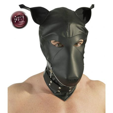 Capucha cabeza de perro imitación piel