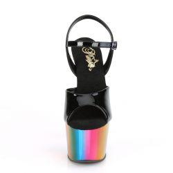 Sandalias ADORE-709RC para Pole Dance con efecto metalizado arco iris