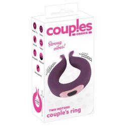 "El anillo vibrador para parejas ""Two Motors couple's"" Recargable"
