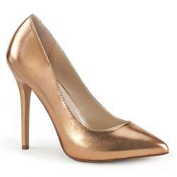 Elegantes zapatos de polipiel efecto metalizado AMUSE-20 con tacón de aguja