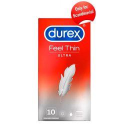 ¡Preservativos Durex 10 unidades ultra finos