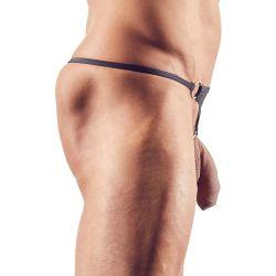 Micro tanga masculino muy sexy con aro metálico extraible para el pene