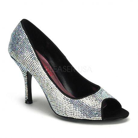 Zapato Bodello clásico recubierto de pedrería
