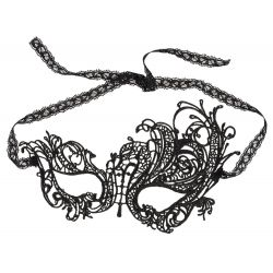 Máscara para los ojos con adornos de encajes florales asimétricos