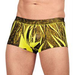 Boxer elásticos en amarillo neón con estampado negro.