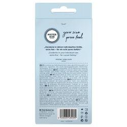 Preservativos extra finos ¨10 und. 53 mm. Látex (Mister Size).