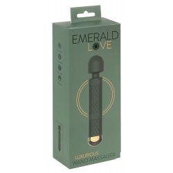 "Varita de masaje recargable "" Esmerald love Luxurious"" con cabezal movil"