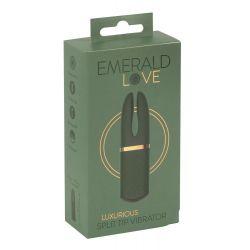 """Vibrador verde con dos brazos estimulantes """"Luxurious Split Tip Vibrator """""""