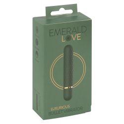 "Vibro bala de 12,6 cm ""Emerald Love"" con 10 vibraciones"