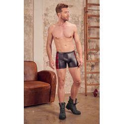 """Pantalones cortos """"NEK"""" de aspecto mate brillante con cremallera frontal."""