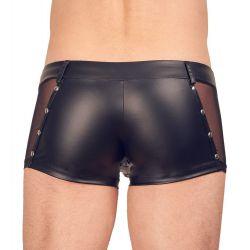 Pantalones cortos con laterales de fina gasa y cremallera frontal