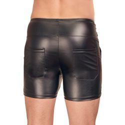 """Pantalones cortos de la colección """"NEK"""" con aspecto mate y cintura alta"""