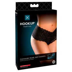 """Tanga de encaje """"Hookup"""" con doble cadena estimulante en la entrepierna"""