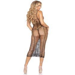 """Vestido largo de red horizontal de la marca """"Leg Avenue"""""""